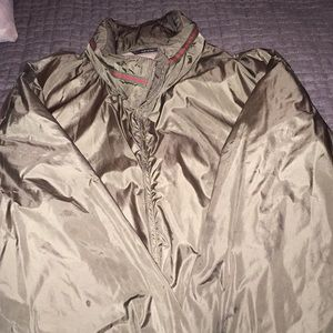 Gucci windbreaker with concealable hoodie.